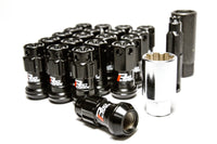Project Kics 14X1.25 Iconix R40 Lug Nuts - Black w/ Gold Caps - 16+4