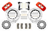 Wilwood AERO4 Spec 37 GT Front Brake Kit 14.25in Red 97-18 Nissan Y61 Patrol w/lines