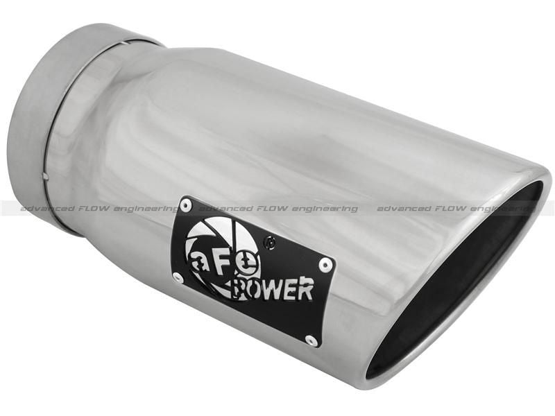 aFe Diesel Bolt On Polished Exhaust Muffler Tip - 5in Inlet/ 6in Outlet/ 12in Length
