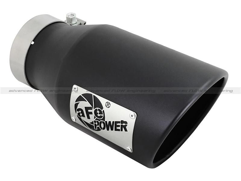 aFe Diesel Exhaust Tip Bolt On Black 4in Inlet x 6in Outlet x 12in Length