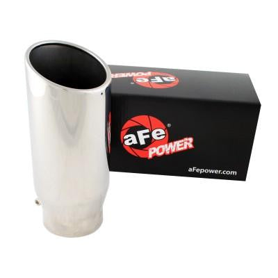aFe MACHForce XP Exhausts Tips SS-304 EXH Tip 4x5x12L Direct Bolt-On (pol)