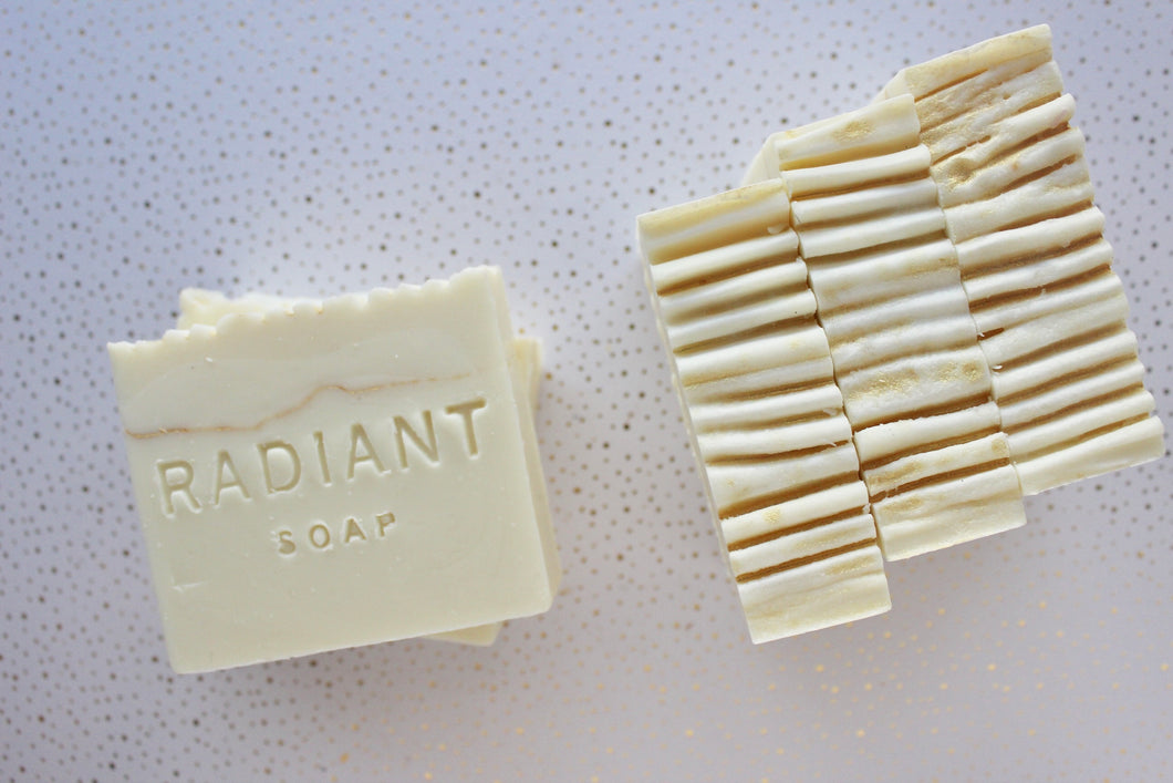 White Tea & Ginger Soap - Cold Process Soap - Radiant Soap