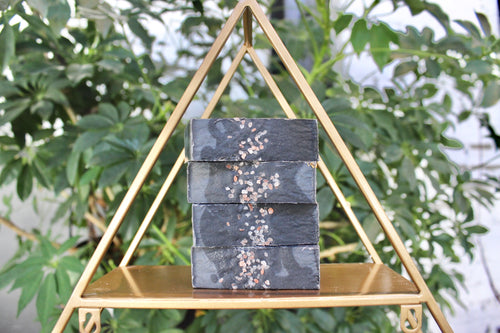 Charcoal Soap - Eucalyptus + Tea Tree Soap + Pink Himalayan Sea Salt