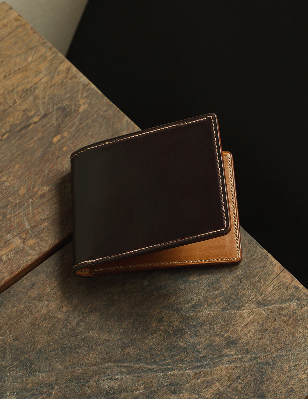 Shell Cordovan Heritage Wallet - Color8 x Buttero Sand Color