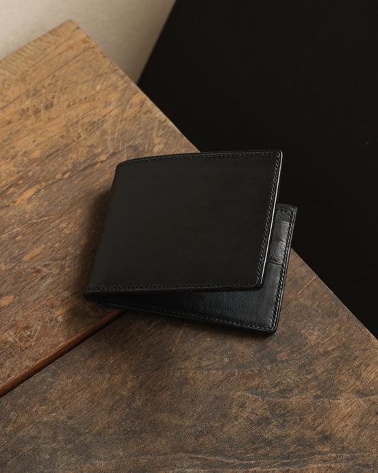 Heritage Bifold Wallet - Buttero x Minerva Leather - Black