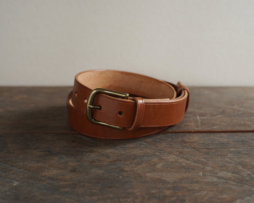 Belt No#10 Organic Dry Leather - Cognac Color
