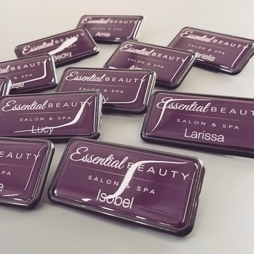 Salon and Spa Name Badges