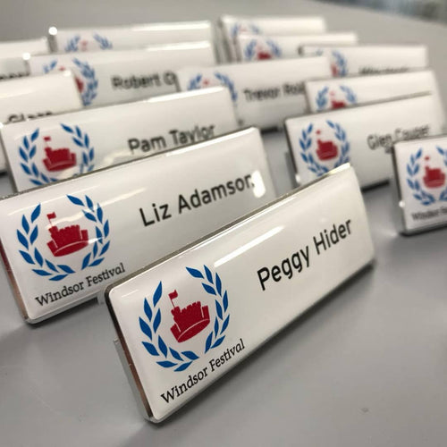 metal staff name badges