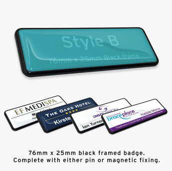 Custom Staff Name Badge: Style B