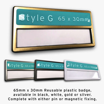 Custom Staff Name Badge: Style G