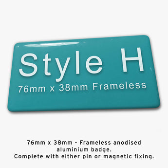 Frameless Custom Staff Name Badge Style H