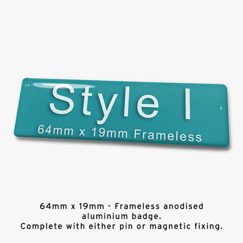 Frameless Custom Staff Name Badge Style I