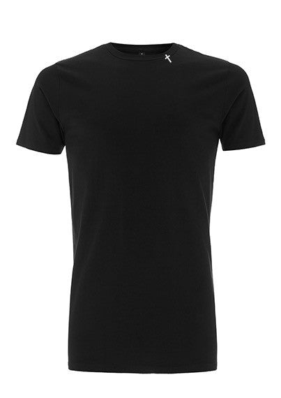 Longline Cross Tee Black
