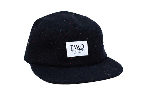 Tweed 5 Panel Black