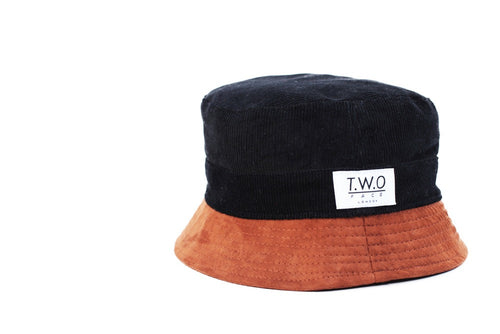 Corduroy Bucket Hat Reversible