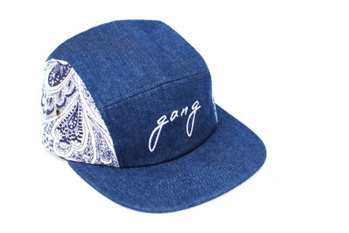 Gang Paisley 5 Panel Snapback Denim