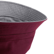 Burgundy Bucket Hat Reversible