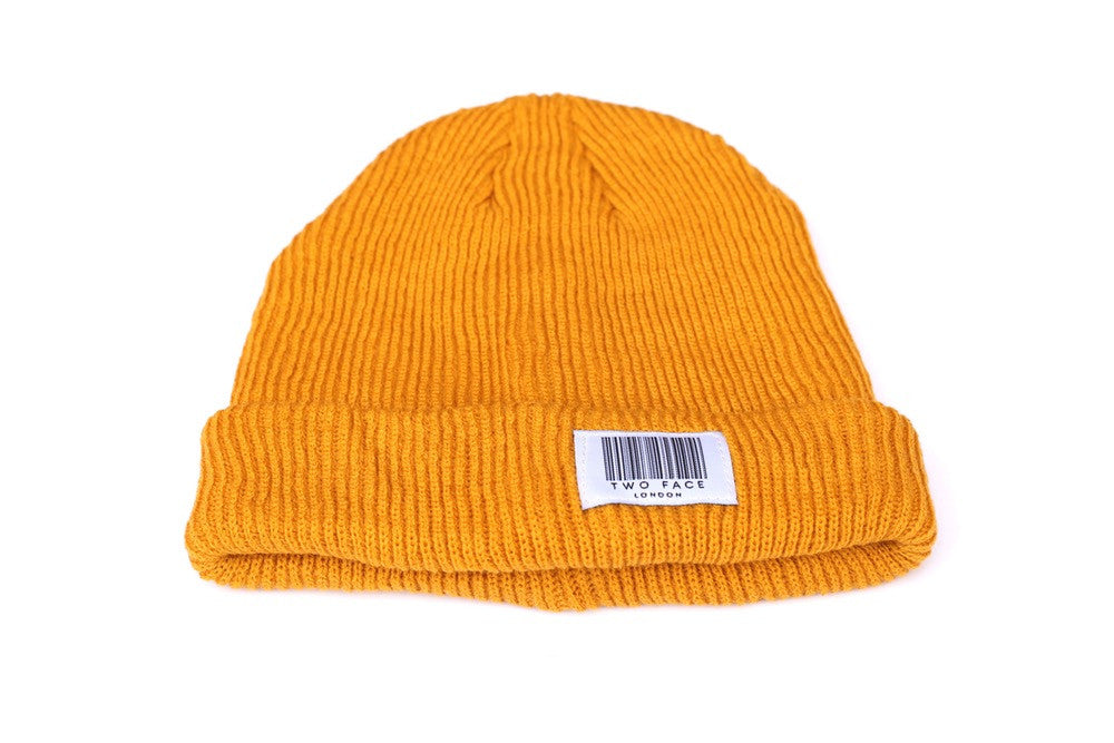 Coded Beanie Mustard