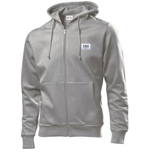 Woven Label Hoodie Heather Grey