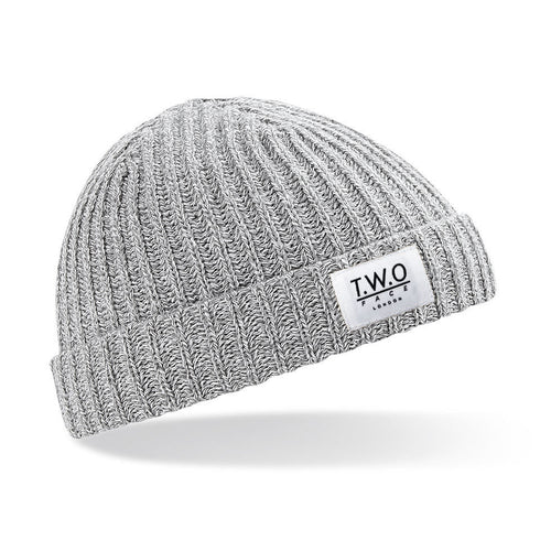 Heather Grey Short Beanie