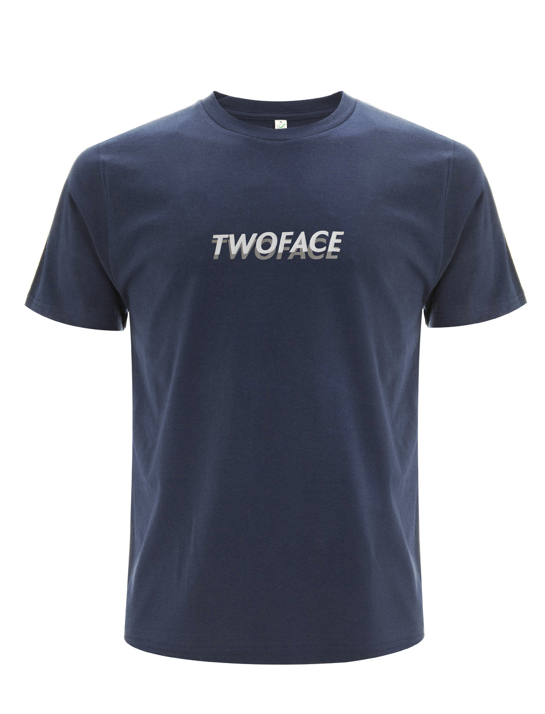 Reflective undertone Navy logo T-shirt