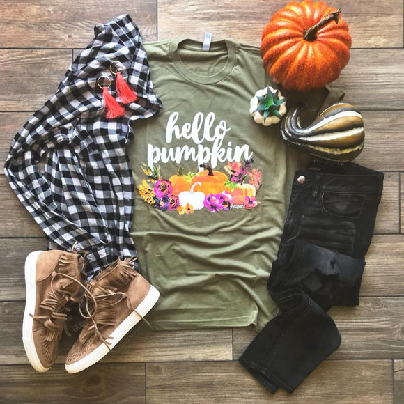 Hello Pumpkin Tee - Velvet Crown Boutique