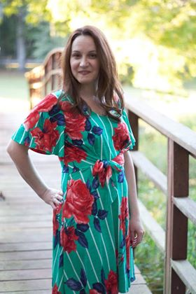 Jade Stripe Floral Dress