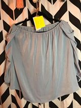 Slate Blue Top - Velvet Crown Boutique