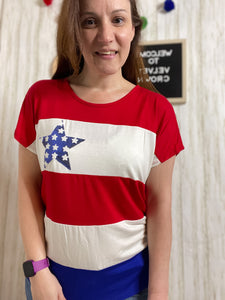 Red White and Here for You Top