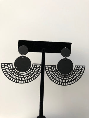 Matte Black Fan - Velvet Crown Boutique