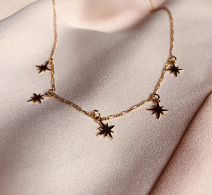 Gold Starbust Dainty Necklace