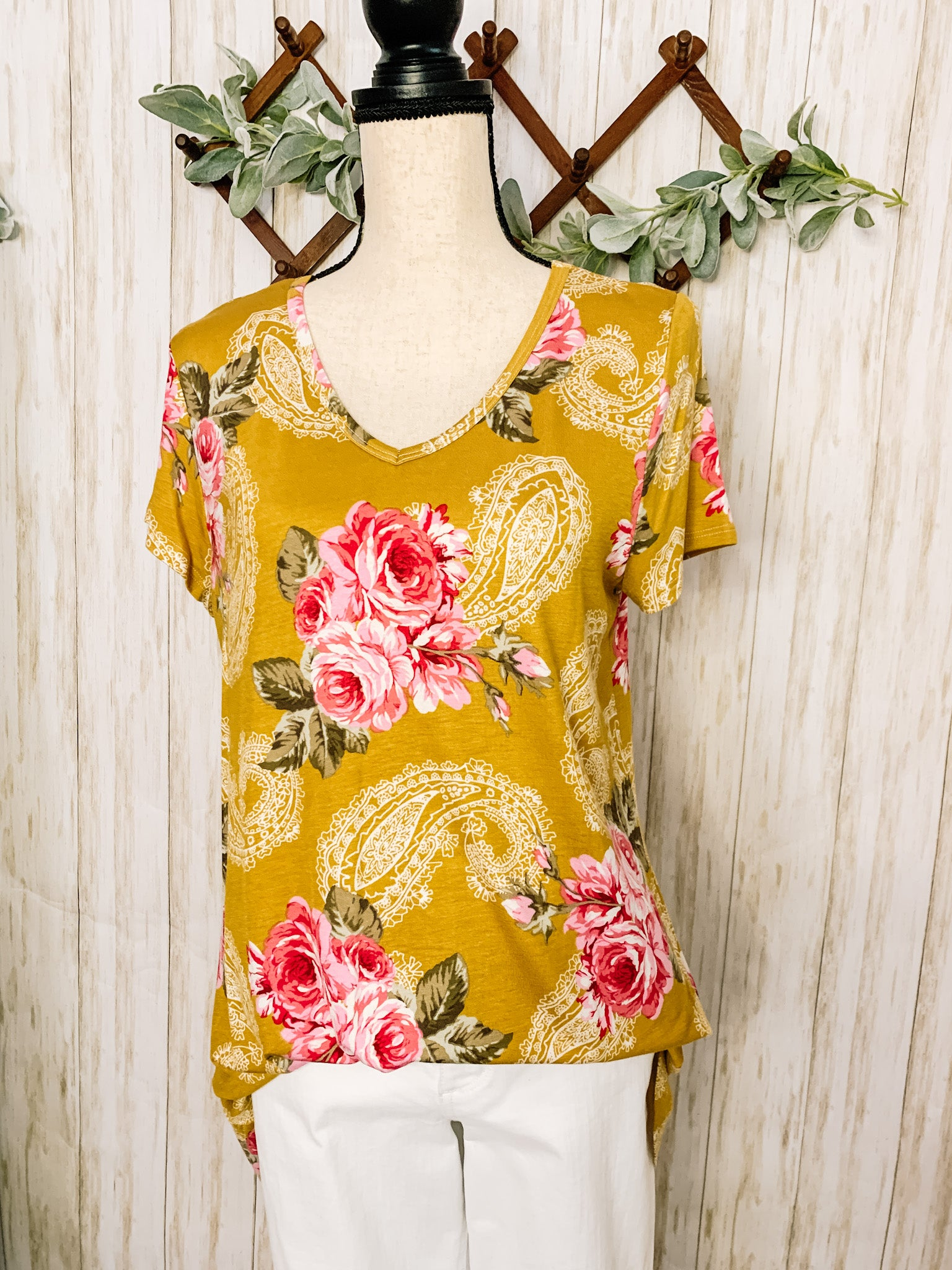 Paisley Floral Top - Velvet Crown Boutique