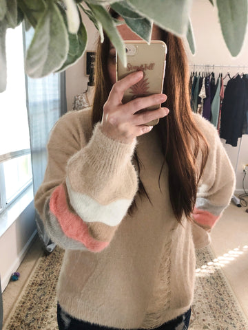 Story Of My Life Taupe Sweater