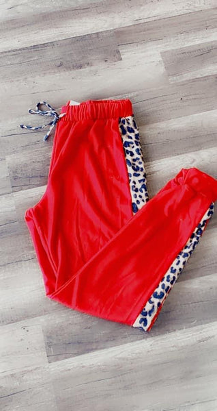 Merry & Bright Red Joggers