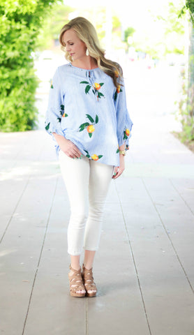 Blue Peaches Top