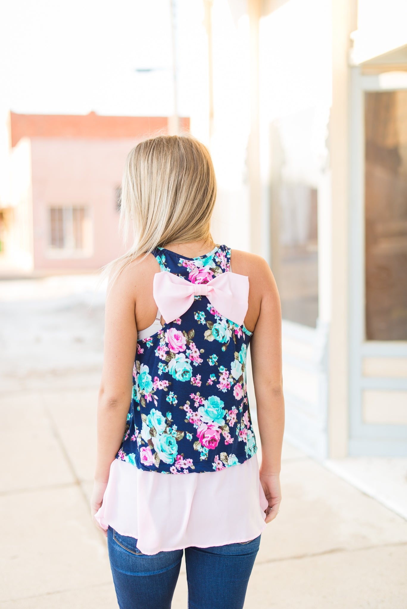 Pink Floral Tank - Velvet Crown Boutique