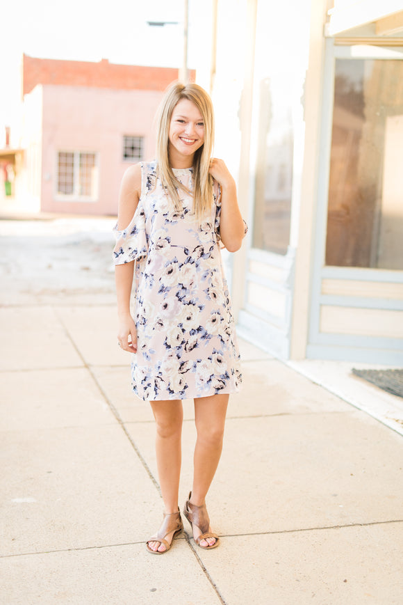 Blush Floral Dress - Velvet Crown Boutique