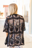 Black Lace Kimono - Velvet Crown Boutique