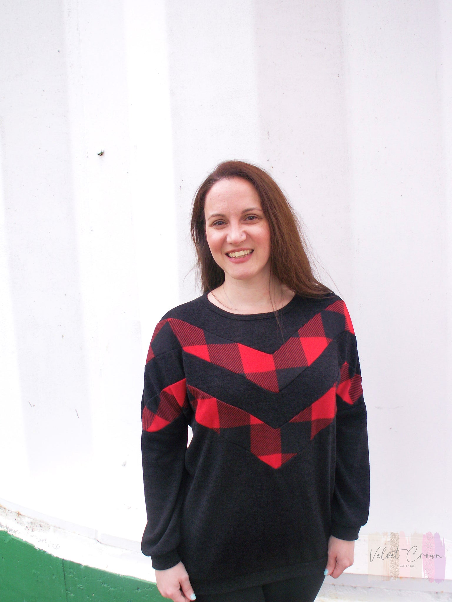 Cabin Cozy Buffalo Plaid Sweater