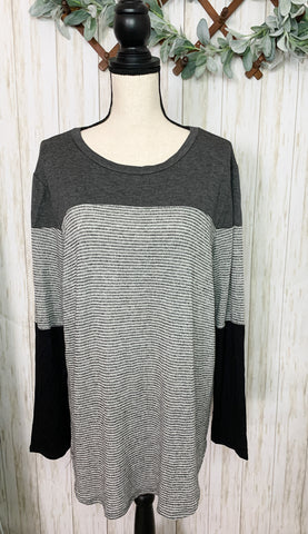 Grey and Black Stripe Sweater