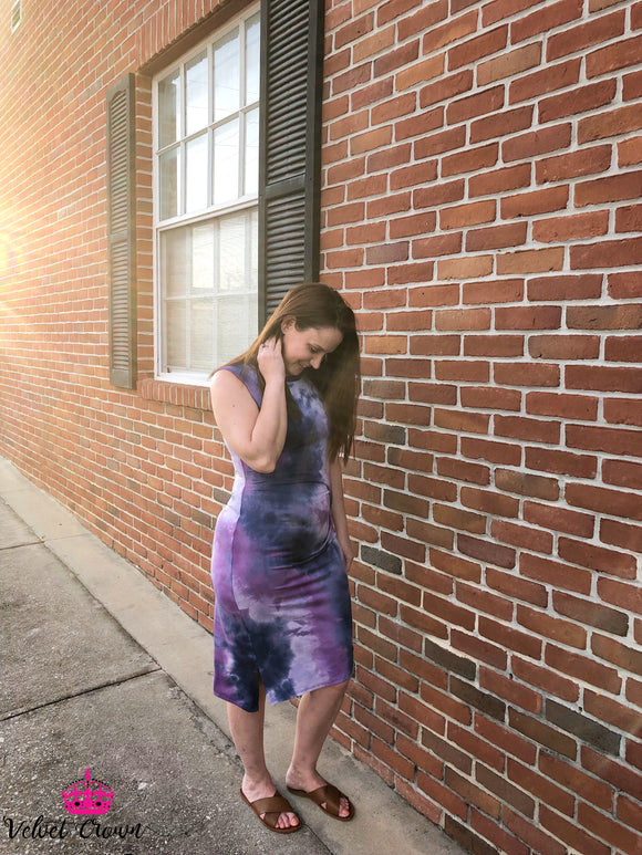 Positive Vibes Only- Purple Tie Dye - Velvet Crown Boutique