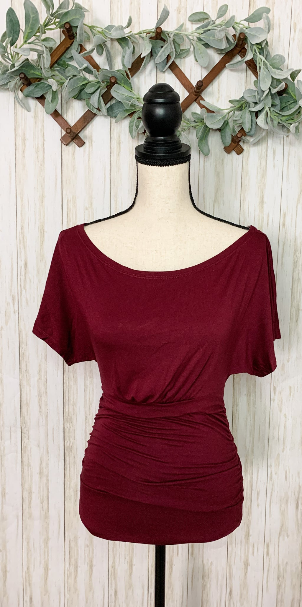 Wine Top with Scoop Neck