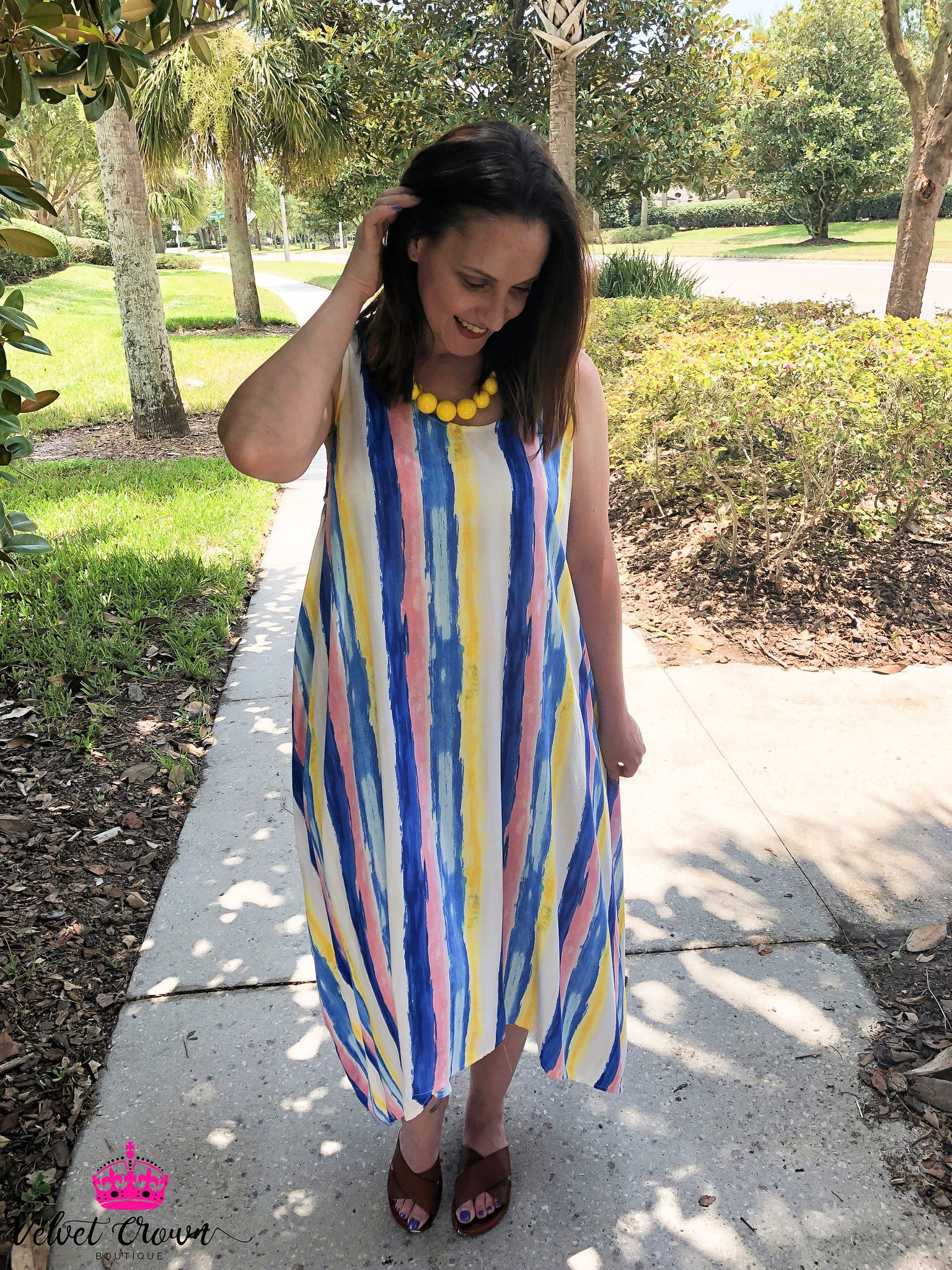 Multi Striped Maxi - Velvet Crown Boutique