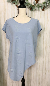 Distressed Blue Top