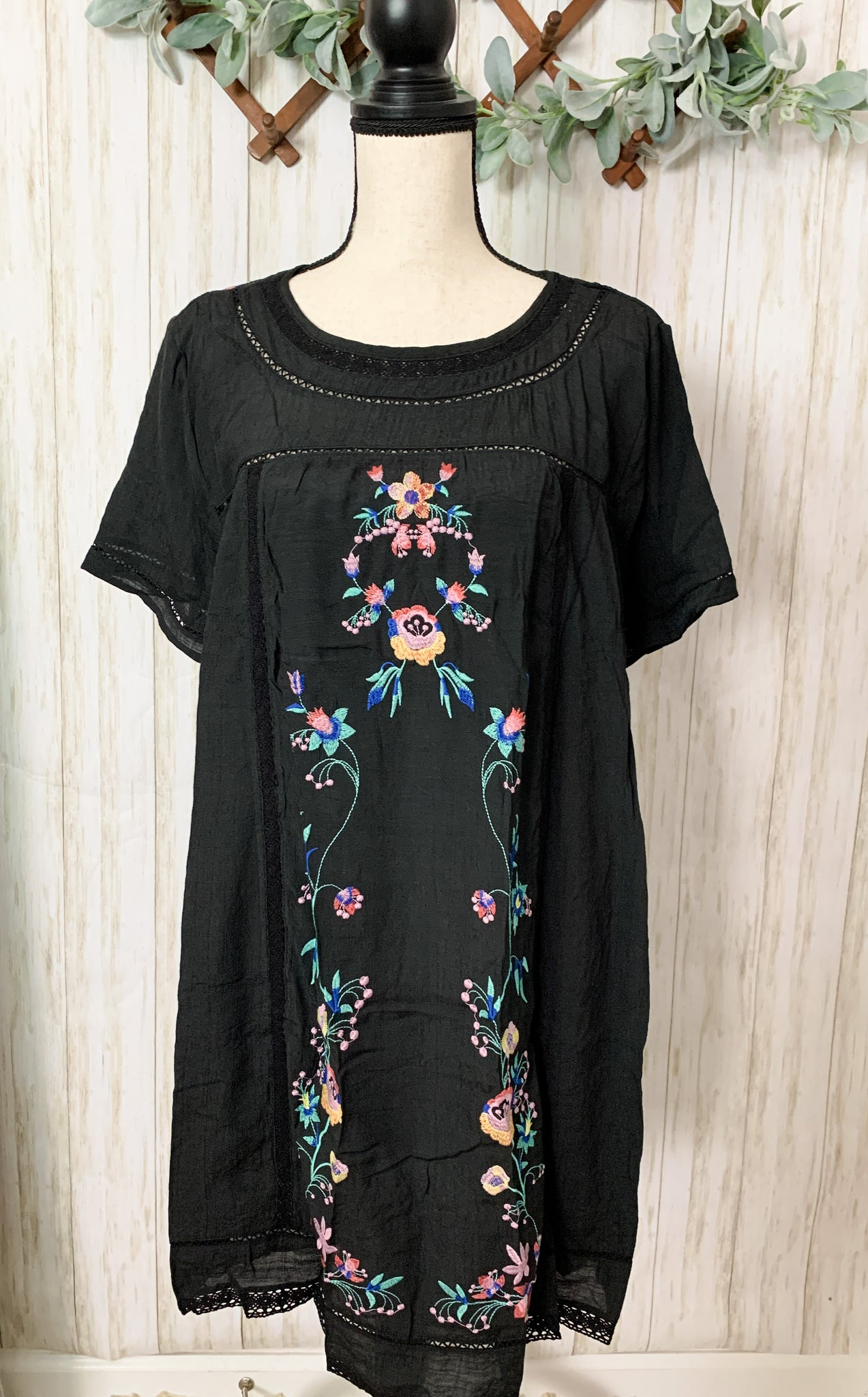 Black Embroidery Dress