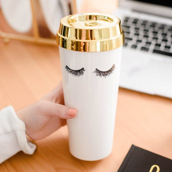 Eyelashes Travel Tumbler