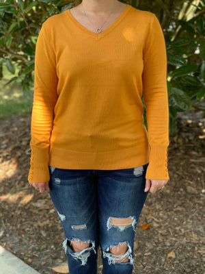 You're Golden Sweater - Velvet Crown Boutique