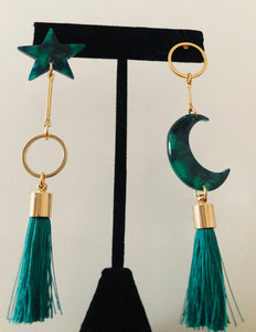 Dark Green Stars & Moon - Velvet Crown Boutique
