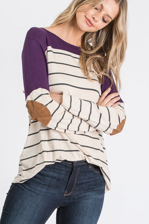 Seasons Change Colorblock Stripe Top