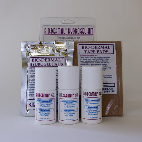 Bio-Dermal Hydrogel Kit Transdermal Application  for Fast Pain Relief